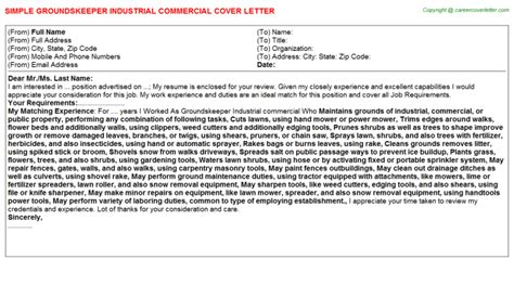 Groundskeeper Cover Letters by Groundskeeper Cover Letters