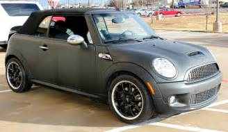 matte black mini cooper car wrap zilla wraps