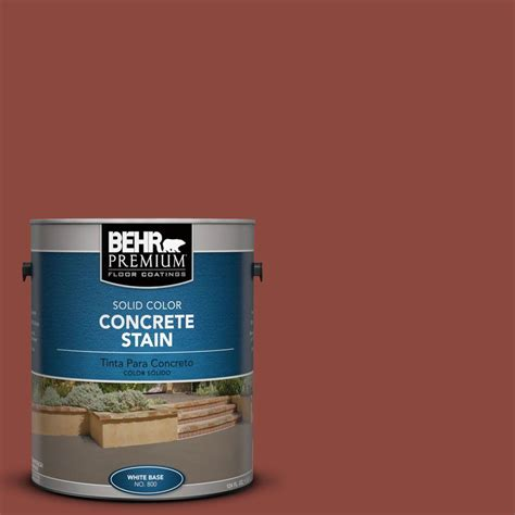 behr premium 1 gal pfc 10 terra cotta solid color concrete stain 83001 the home depot