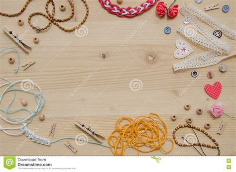 Handmade Handicraft - set of elements for handicraft and decorative items for