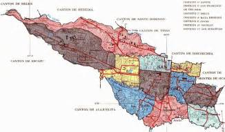 San Jose County Map by Map Of The County Of San Jose Costa Rica