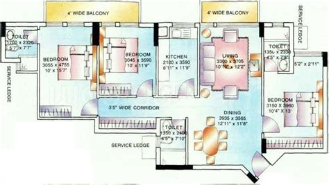 hilton hawaiian village lagoon tower floor plan 2400 sq ft 3 bhk 3t apartment for sale in ambience lagoon