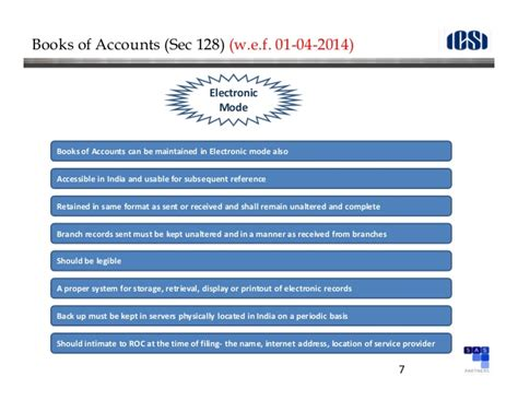format of cash flow under companies act 2013 companies act 2013 presentation on accounts audit