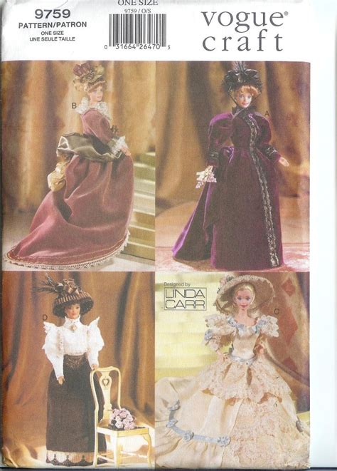 11 1 2 fashion dolls vogue 11 1 2 quot fashion doll clothes pattern retro ebay