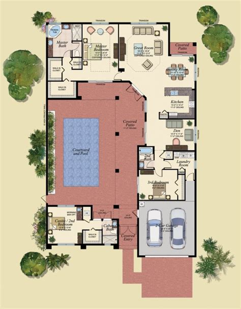 house plans with swimming pools home plans with courtyard pools escortsea