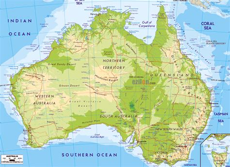 geographical map of geography australia and climate change