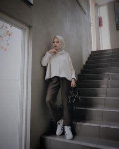 Slingbag Bunga Hitam ootd baju kekinian ala selebgram 2018 pashmina top