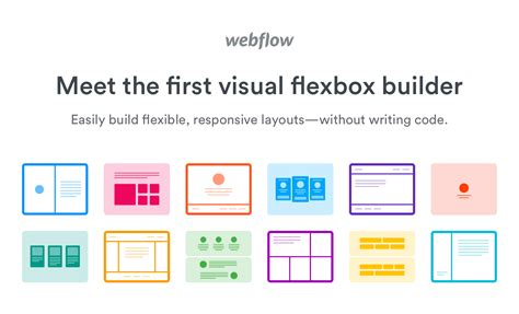 flexbox layout exles visual css flexbox builder webflow