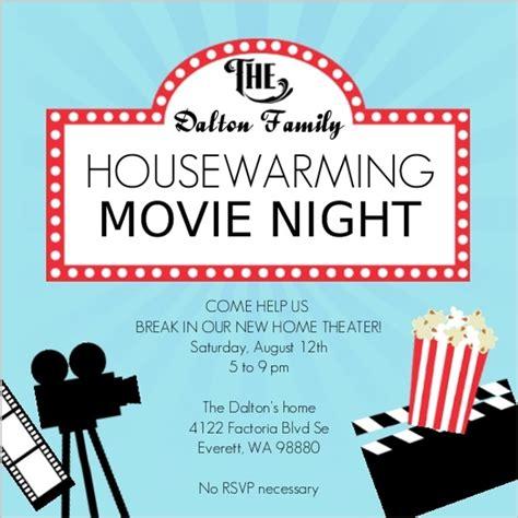 House Planner Online movie night housewarming party invitation housewarming