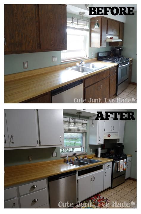 Laminate Paint Kitchen Cupboards by Junk I Ve Made How To Paint Laminate Cabinets Part