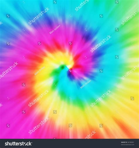 tie dye colors realistic spiral tiedye illustration variety colors stock