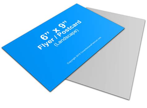 6x9 postcard template horizontal 6 x 9 inches flyer mockup cover actions
