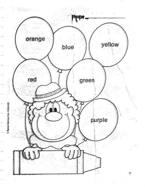 imagenes en ingles para niños para colorear fichas para pintar y aprender los colores en ingles