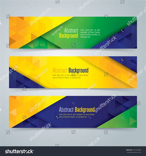 banner design html collection banner design brazil flag color background