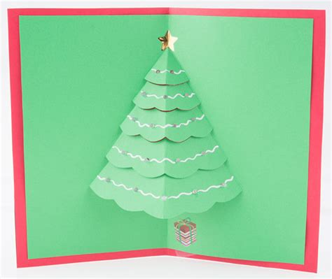 tree pop up card templates let it glow cards learn sparkfun
