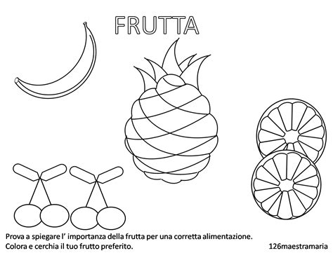 disegni da colorare alimenti disegni di alimenti da colorare maestramaria