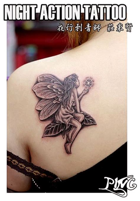 cute fairy tattoo designs on a s shoulder tattoos