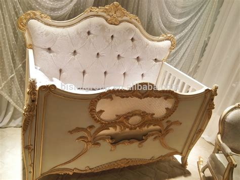 Luxury Cribs by Luxury Royal Crown Customized Color New Born Wooden Baby