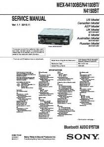 sony mex n4100be mex n4100bt mex n4150bt service manual free