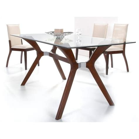 dining sets for small areas rectangular glass dining room chintaly luisa 5 piece rectangular glass top dining set