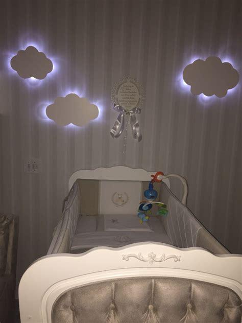 luminaria nuvem  luz led decoracao quarto de bebe kit