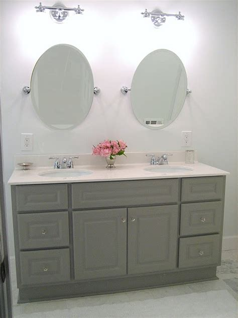 Vanity Painted In Martha Stewart Cement Gray Vintage Martha Stewart Bathroom Furniture