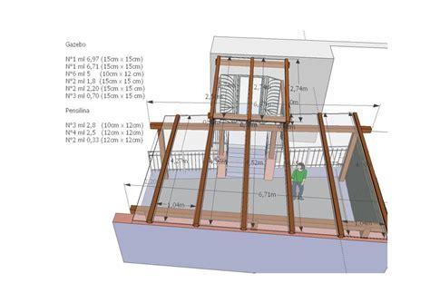 progetto gazebo in legno progetto gazebo in legno a camogli ge idee falegnami
