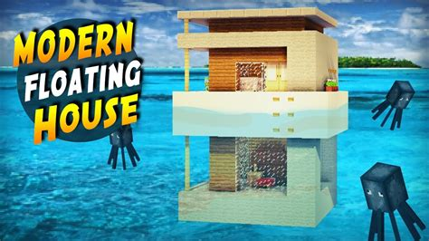 water stopped working in house minecraft how to build a modern house on water tutorial 2017 youtube