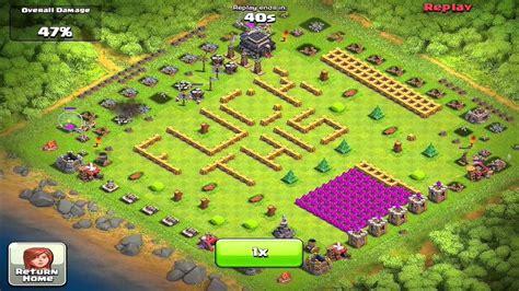 best wall pattern in clash of clans clash of clans funniest raid ever mrbigbeta youtube