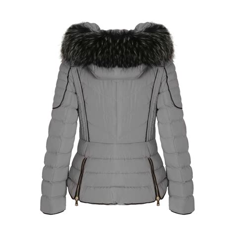 light puffer jacket with light grey layered quilted puffer jacket with black faux