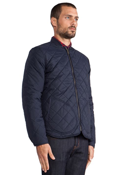 Penfield Quilted Jacket by Penfield Landrum Quilted Jacket In Navy In Blue For Lyst