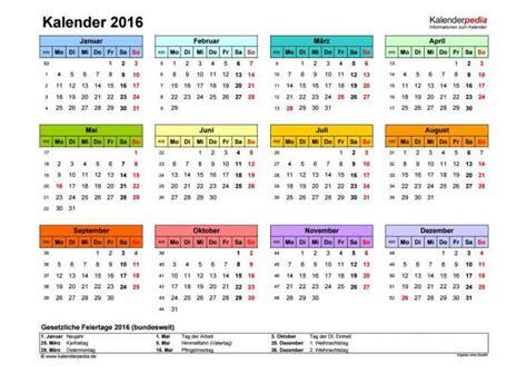 Wochen Kalender 2016 Kalender 2016 Freeware De