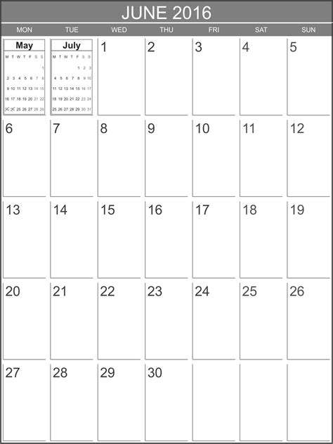 june 2016 calendar printable org free calendar june 2016 printable blank calendar org