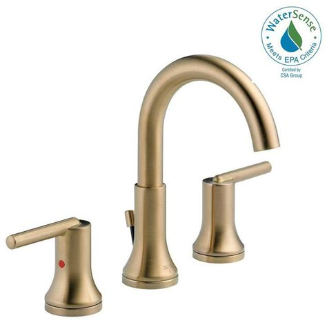 delta brass bathroom sink faucets delta trinsic 8 in widespread 2 handle bathroom faucet