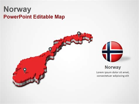 powerpoint themes norway norway powerpoint map slides norway map ppt slides