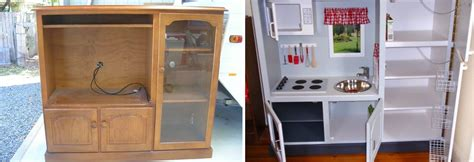 repurpose old furniture into a cute girly play kitchen 10 repurposed furniture ideas hirerush blog