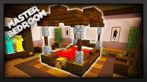 bedroom in minecraft minecraft how to make a master bedroom youtube