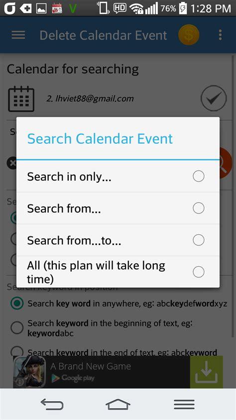 Delete Calendar Delete Calendar Event Br Appstore