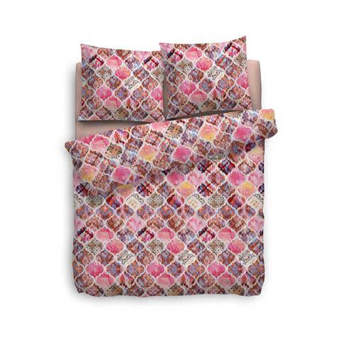 dekbedovertrek 240x220 roze heckett lane dekbedovertrek rachela roze 240x220 cm