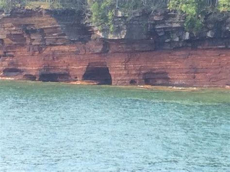 glass bottom boat bayfield wi shallow wreck from the deck picture of apostle islands