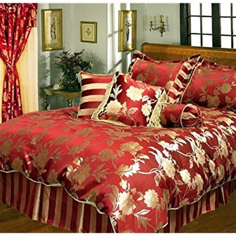 burgundy and gold comforter set king com 9 pc super luxury embellished jacquard