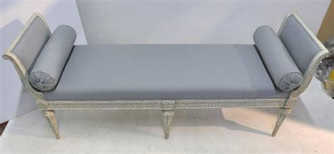 banquette settee 19th century louis philippe painted banquette bench settee