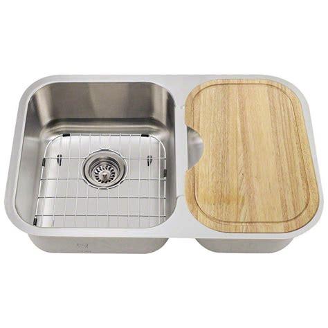 28 Kitchen Sink Polaris Sinks All In One Undermount Stainless Steel 28 In Left Basin Kitchen Sink Pl035