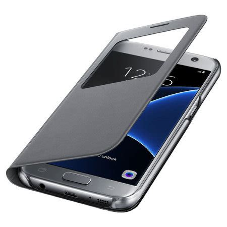 Topi Official 7 Premium official samsung galaxy s7 s view premium cover silver