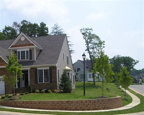 corner house curb appeal residential retaining wall pictures