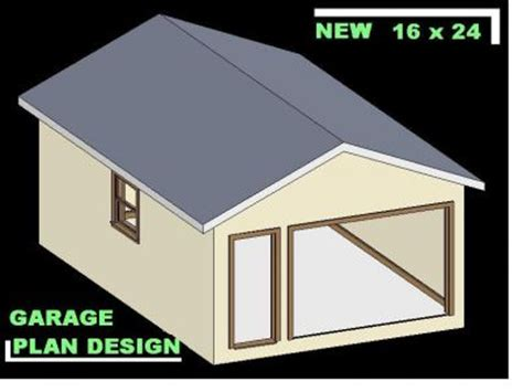 16 x 24 garage plans cmpl shed design autocad