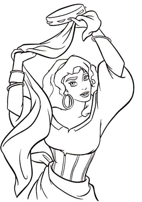esmeralda dancing with tambourine in the hunchback of