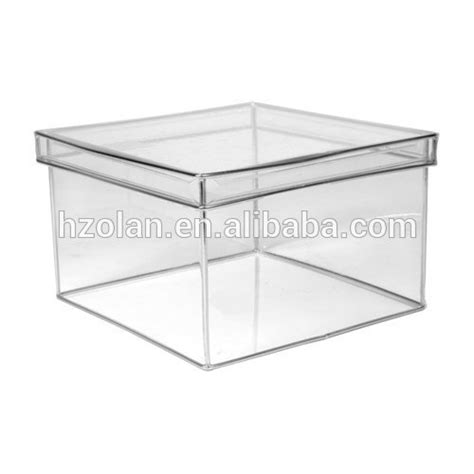 Clear Box 10 10 10 10 square gift box transparent plexiglass show clear acrylic box with lid buy clear