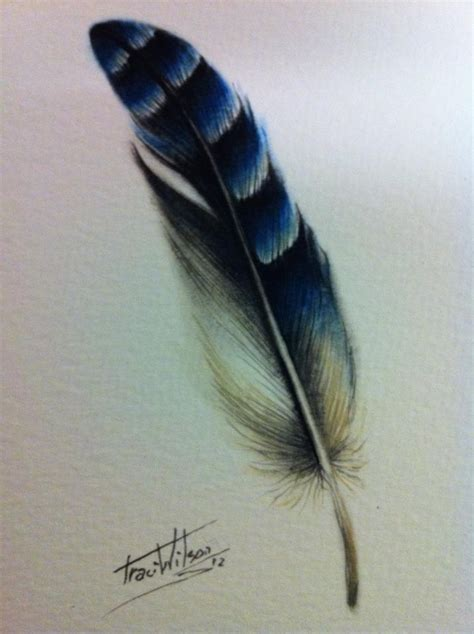 tattoo feather jay blue jay feather tattoo idea tattoos pinterest dads