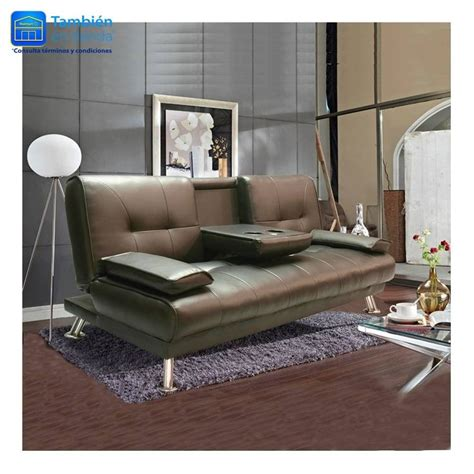 sof 225 cama hometrends chocolate con portavasos 3 499 00